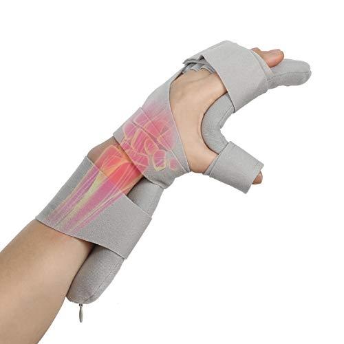Férula mano Órtesis funcional de dedo, Férula de mano descanso función suave, Diapasón noche Soporte férula mano Inmovilizador para hemiplejia por accidente cerebrovascular(Izquierda)