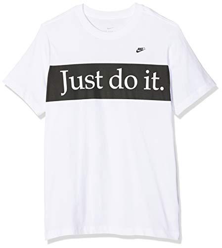 Nike Herren Sportswear Mini Futura 3 T-Shirt, White, L