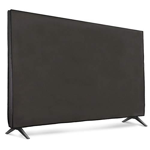 """kwmobile Funda Compatible con Monitor 75"""" TV - Cubierta Protectora Textil para Pantalla - Gris Oscuro"""