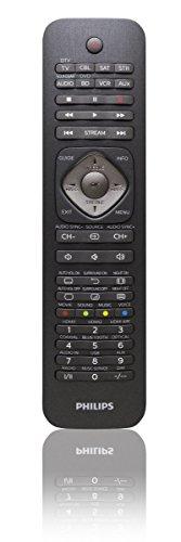 Philips SRP5018/10 Universal Fernbedienung (8-in-1, TV, Blu-ray, CBL, SAT, STR, SB, VCR, AUX) schwarz