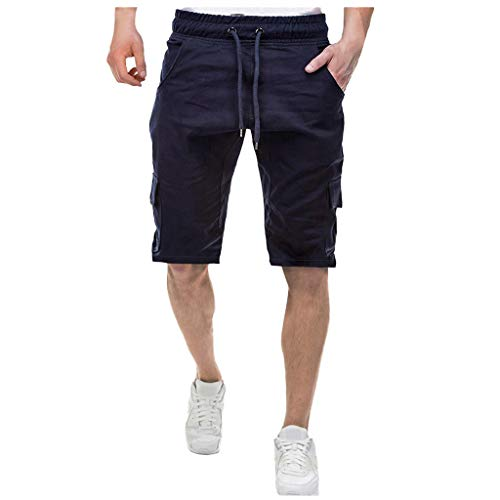 Pantacourt Homme Pas Cher,Sarouel Sport Multipoches Bermudas Sport Pantalon Court LéGer Shorts Grand Taille Outdoor Sport Short
