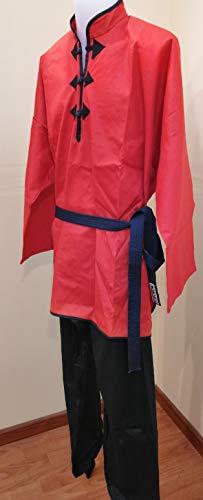 Grupo Contact Kimono de Kung-fu Chino, Color Rojo/Negro, Varias Tallas (1.70 cm.)