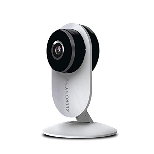 Zebronics Zeb Smart Cam 100 Smart Home Automation WiFi Camera with Remote Monitoring, Advanced Motion Detection, Day/Night Mode, Live Streaming, Micro SD Card Slot, 2 Way Audio, works with Android and iOS Smartphones