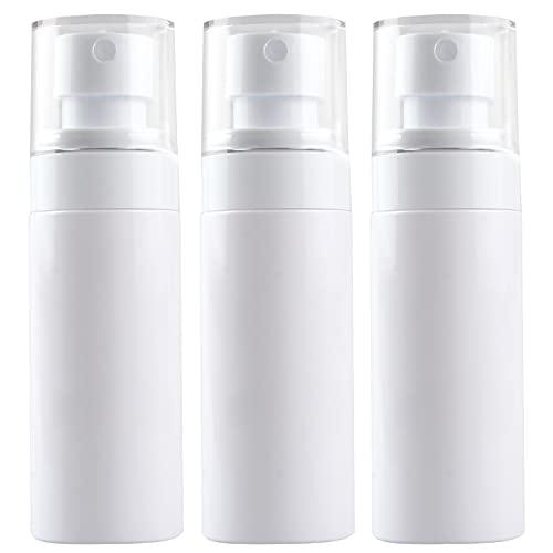 TouGod 3 botes de spray transparentes de 60 ml para nebulización vacía, atomizador de viaje, bote de plástico para maquillaje, agua o alcohol