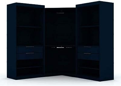 Amazon.com: Clóset de dos puertas Hodedah, Madera ...