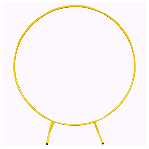 zhicheng shop Gold Metal Wrought Iron Round Wedding Arch Background Decorative Frame Mall Flower Display Decoration (Gold, 1m/3.28ft)