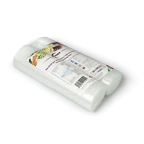 Wimex Bolsas AL Vacío para Alimentos Paquetes 100 Piezas (2 Rollos 20x600cm)
