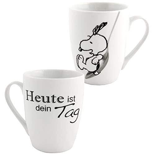 Peanuts Snoopy -Heute ist dein Tag Tasse Kaffeetasse Weiß aus Porzellan 280 ml