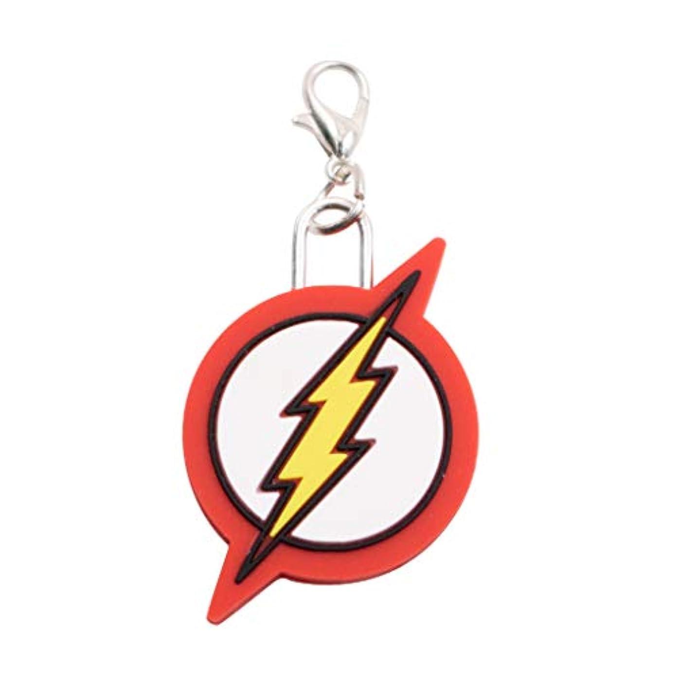 DC Comics The Flash Logo Key Chain Shaped PVC Zipper Pull