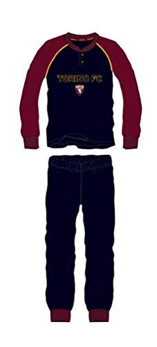 Pigiama Torino Ufficiale Toro Bambino Ragazzo Anni 10 12 14 16 Blu Navy Invernale PIGTO15095NAV (14 Anni)