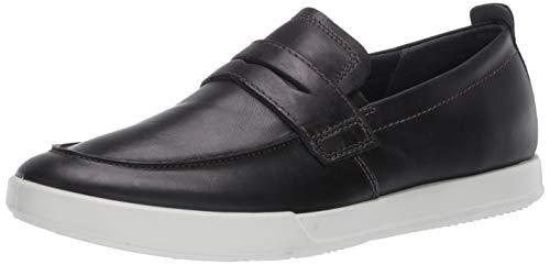 ECCO mens Cathum Penny Loafer Sneaker, Black Nubuck, 7-7.5 US