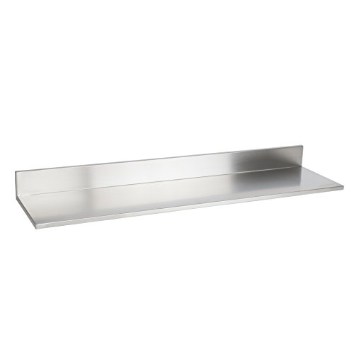 Wallniture Plat Durable Stainless-Steel Wall Mountable 30.75 Inch Kitchen Organization Shelf for Restaurants Businesses and Eateries
