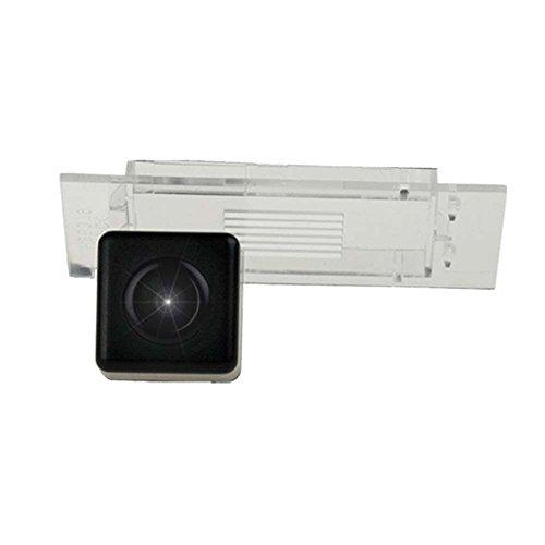 Kalakass 12V HD CCD Rückfahrkamera für Auto Nummernschild mit 170 Grad Weitwinkel-Objektiv Nachtsicht wasserdichte IP67 Einparkhilfe für Kadjar Smart