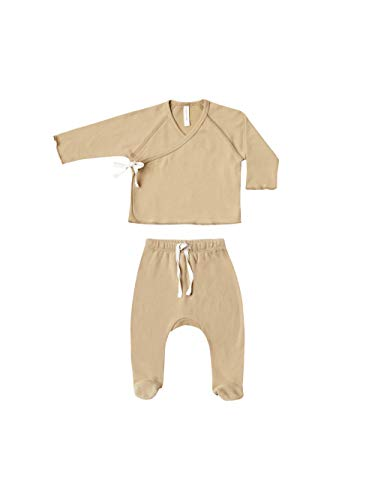 Kimono Top, Footed Pants for Baby Boys and Girls
