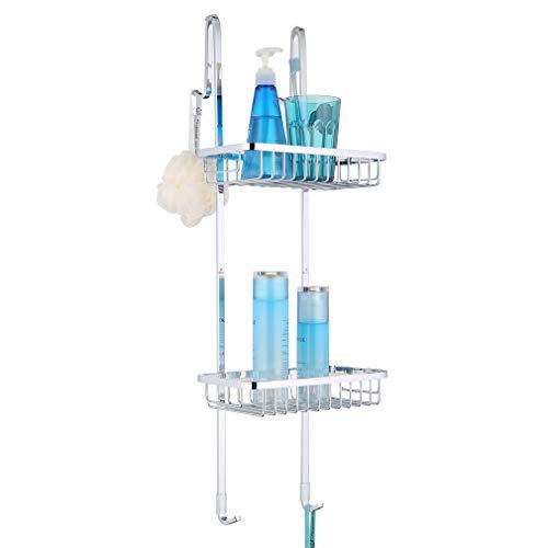 ubeegol duschhylla för upphängning rostfritt stål duschkorg för glasvägg duschhylla utan borrning för bekväm förvaring schampo duschgel tvål eller hängning, 70 cm