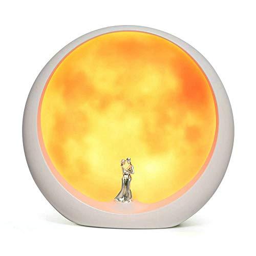 Mond Stimmungs Lampen Einzigartiger Jahrestags Heirat Valentinstag Geschenk Ideen Kunst Dekoration, weiße heilige Hochzeit unter Vollmond (Nicht wiederaufladbar)