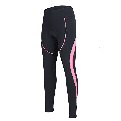 Women's Cycling Pants 3D Padded Compression Tight, Long Bike Bicycle Pants with Wide Waistband...