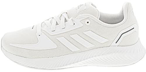 adidas Runfalcon 2.0, Road Running Shoe, Cloud White/Cloud White/Grey, 38 EU