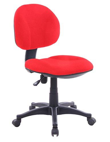 Lisa Roja Silla giratoria tapizada para estudio despacho o escritorio juvenil con ruedas, ideal para teletrabajo.Silla de oficina giratoria con gas y asiento tapizado