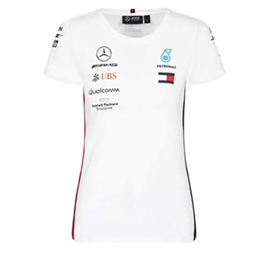 Mercedes AMG F1 Team Driver Puma Mujer Blanco Camiseta Oficial 2019
