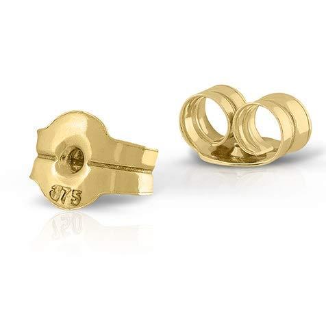 Tuerca tornillo en oro de 18k, repuesto para tus aretes pendientes sirve para todos los modelos. Máxima calidad y seguridad. (9 Kilates - Presión)