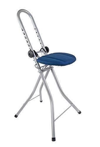 BURI Bügelstehhilfe höhenverstellbar Bügelstuhl Standhilfe Stehsitz Alltagshilfe, Farbe:grau