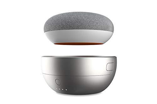 Ninety7 JOT Portable Battery Base for Google Home Mini … (Silver)