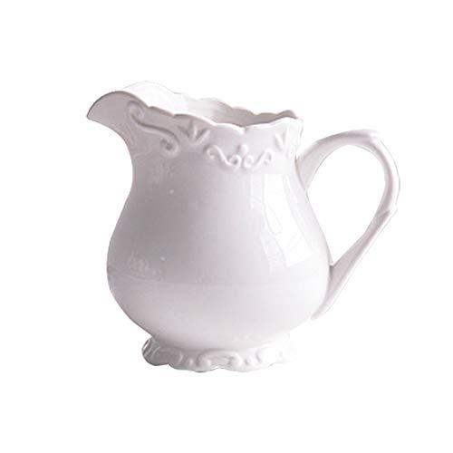 County Style Keramik Kaffee Milk Krug Polie Pottery Milchkännchen mit Griff Servierkrug für Sauce im Küchentisch 340 ml