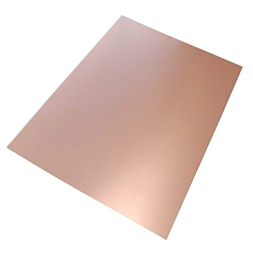 AERZETIX: Piastra foglio di rame per circuito stampato 297/210/1mm 18µm resina epossidica fibra di vetro C40566