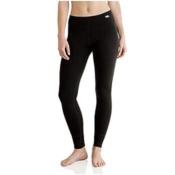 MERIWOOL Womens Base Layer 100% Merino Wool Heavyweight 400g Thermal Pants Leggings for Women Black