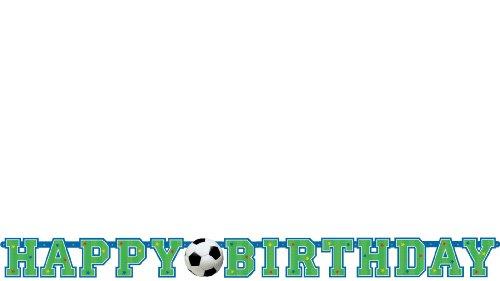 Generique - Bannière Happy Birthday Ballon de Football