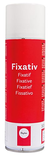 Rayher 3401300 Fixativ-Spray, Dose 300 ml, transparent, zum Fixieren für Pastell-, Kohle- und Buntstiftzeichnungen