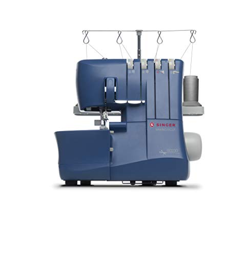 SINGER | Making The Cut S0230 Serger 4 Thread, Differential Feed, 1300 Stitches Per Min-Sewing Made Easy Serger, Blue
