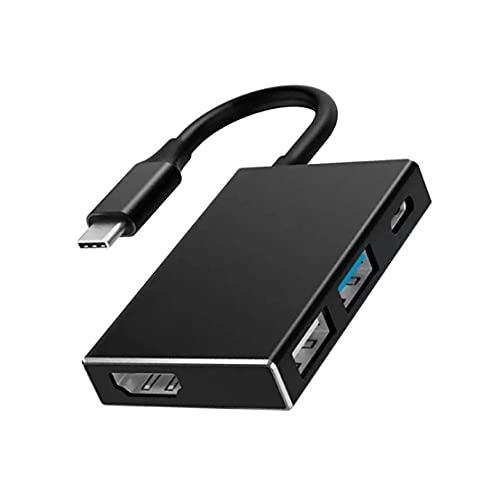Pumprout Cargador Adaptador USB-C de concentrador multipuerto AV Digital 4 en 1 USB Tipo C a HDMI Compatible para Nintend 4K Dock para TV Docking Station
