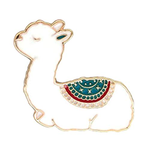 Zonster Kawaii Llama del Bebé Metal Broche Animal Linda Esmalte Badge Alpaca Broches De Los Pernos De La Solapa De La Mujer Blue Girl