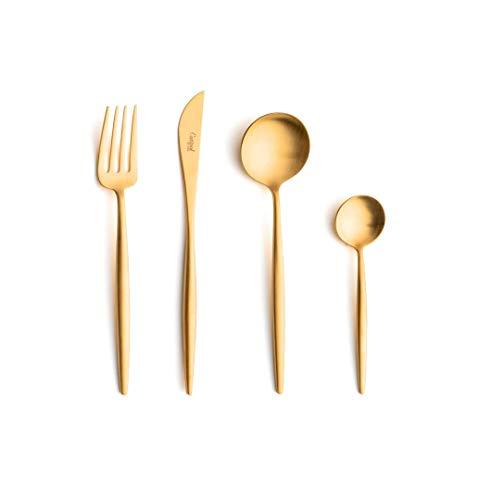 Cutipol Besteck-Set, matt, goldfarben, 24-teilig