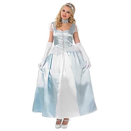 Fun Shack Costume per Adulti Principessa Reale Blu Abito da Sera Vestito Regina Fiabe - Taglia M
