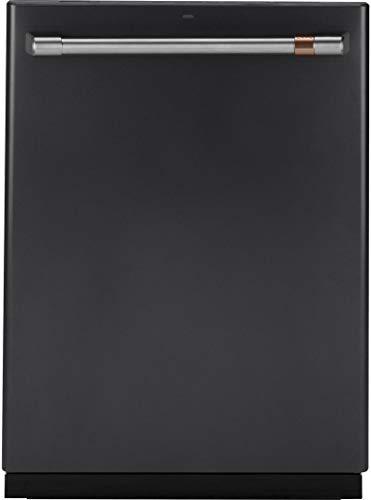 "Cafe 24"" Matte Black And Stainless Steel Built-In Dishwasher"