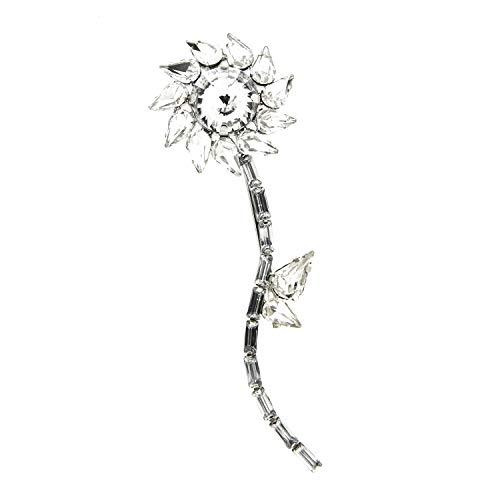 sweet deluxe 5965 Damen Brosche/Klammer Flower, silber/crystal