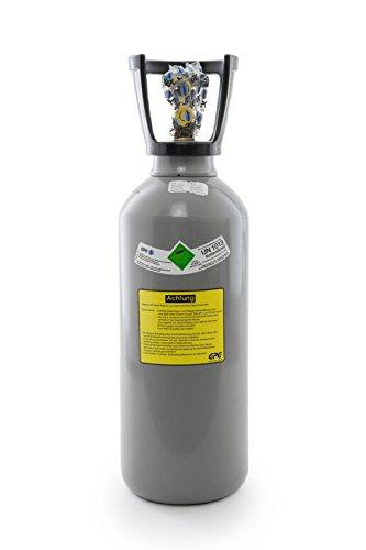 6 kg Kohlensäure Flasche/Neue CO2 Flasche/Gasflasche (Eigentumsflasche) gefüllt mit Kohlensäure(CO2) / Lebensmittelqualität E290 / kurze Bauform / 10 Jahre TÜV ab Herstelldatum, Globalimport