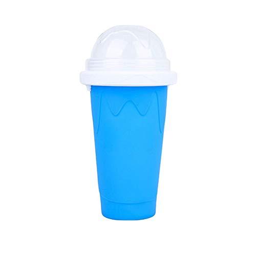 XQK Slushy Maker Cup DIY Slush Shake Maker, schnell gefrorener Smoothies Cup Cooling Cup Eismaschine 8,11 * 4,17 Zoll (Blau)