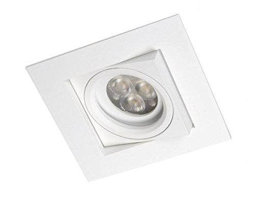 Spot Encastrable Carré basculant Collection Kare de Bpm Lighting (valable pour Led et halogène) Blanc Mat