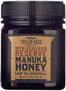 Taylor Pass Honey Co Manuka MGO514+ UMF 15+ Honey Raw Healthy Delicious New Zealand Honey Non-Gmo (8.83oz) (UMF15+ MGO514+)