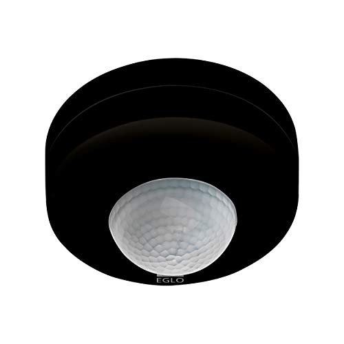 EGLO Bewegungsmelder Detect me 6, Bewegungssensor aus Kunststoff, IP44, Ø 90 mm, schwarz