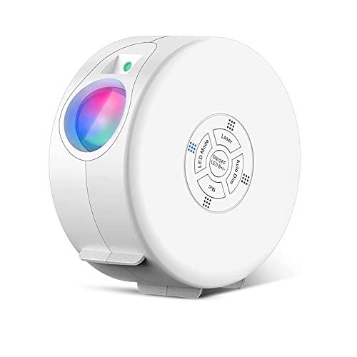 LED Sternenhimmel Projektor Lampe, Seafly Galaxy Projektor nachtlicht RGB, Unterstützt Bluetooth Musik, Sleep-Timer, Fernbedienung, für Schlafzimmer deko / Heimkino / Festival & Party, Weiß