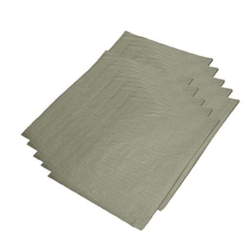 LysiMuus Große Hochleistungs-Kunststoff-Trümmer-Säcke für den BAU Garten Abfallbeutel für Bauherren Gartenarbeit 20kg Abfall (grau 10 Stück) 60 * 110 cm