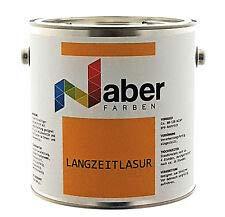 Naber Langzeitlasur Holzlasur Dickschichtlasur Seidenglanz Farbe: Palisander 0,75 Liter