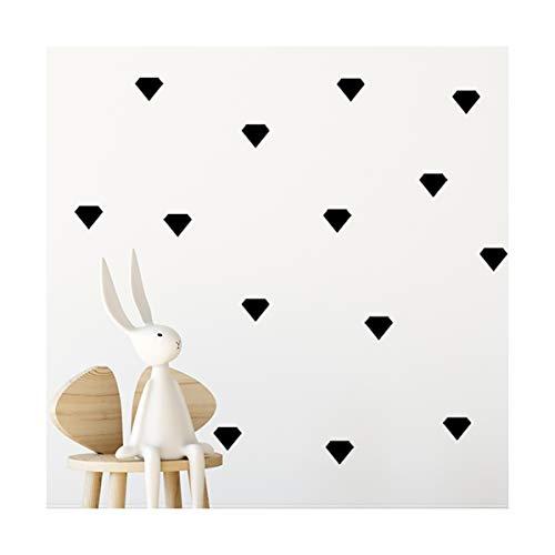 Schwarzer Wandaufkleber mit Strasssteinen, 80 Aufkleber, leicht abzulösen, leicht zu kleben, sicher auf bemalten Wänden, abnehmbare Vinyl-Polka-Dot Decor, Bastelaufkleber für Kinderzimmer (schwarz)