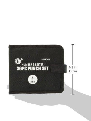 SE 95440WB 4 mm Number & Letter Punch Set(36 Piece)
