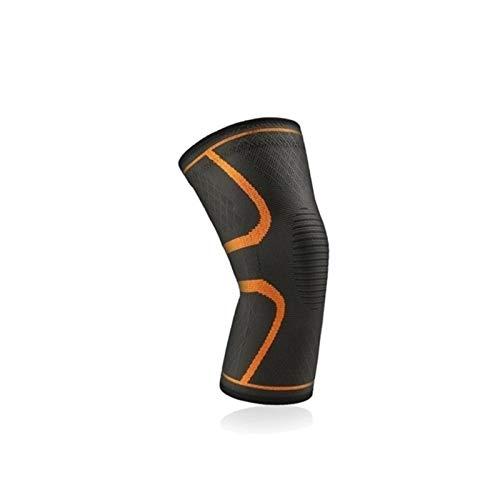 1 PC Elastic Knieschützer Nylon Sport Fitness Kneepad Eignungs-Gang Patella Brace Jogging Basketball Volleyball-Supports (Color : 1 Piece Orange, Size : XXL)